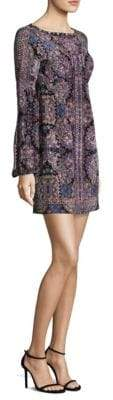Nanette Lepore Kaleidoscope Printed Silk Shift Dress