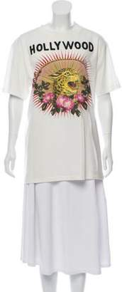 Gucci 'Hollywood' Printed T-Shirt leopard 'Hollywood' Printed T-Shirt