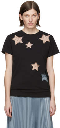 RED Valentino Black Tulle Stars T-Shirt
