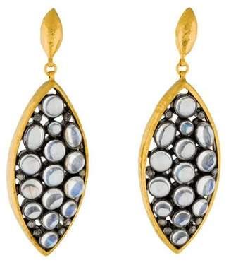 Gurhan Moonstone & Diamond Venus Drop Earrings