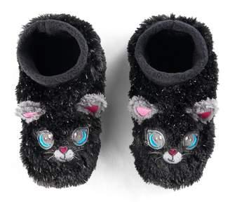 Girls 4-16 Fuzzy Cat Slipper Socks