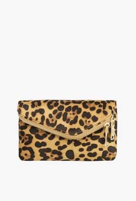 Azalea Leopard Chain Clutch Bag