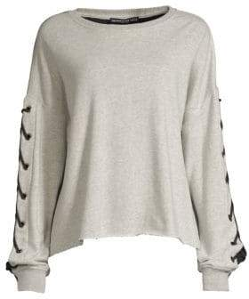 Generation Love Alexis Lace-Up Sleeve Sweatshirt