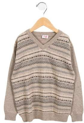 Il Gufo Boys' Wool-Blend Fair Isle Sweater