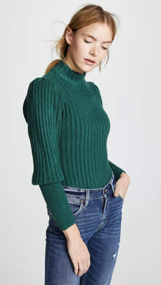 WAYF Miles Puff Sleeve Turtleneck