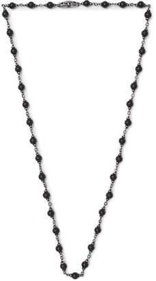 David Yurman Blackened Sterling Silver Onyx Necklace
