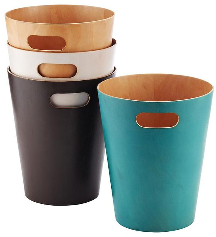 Umbra Woodrow Wastebasket Espresso