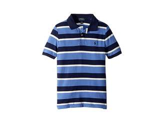 Polo Ralph Lauren Striped Featherweight Mesh Polo (Little Kids/Big Kids)
