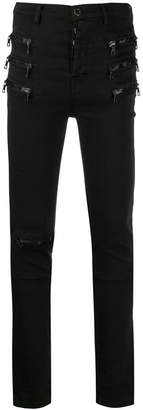 Unravel Project multi-zip skinny jeans