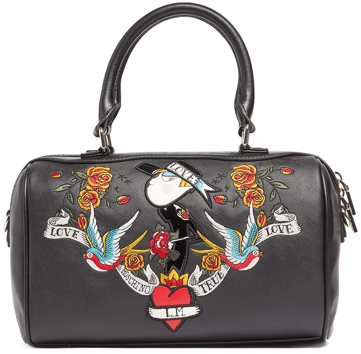 Love Moschino LOVE Moschino Printed Saffiano Satchel