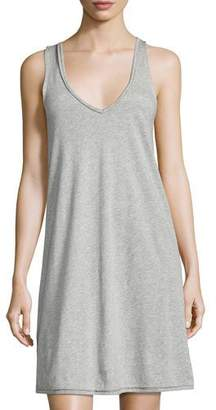 Skin Sleeveless Jersey Nightgown, Light Gray