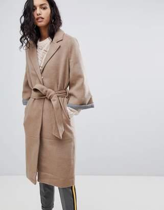 Y.A.S Abbey Wool Blend Belted Duster Coat