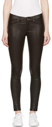 Rag & Bone Black Skinny Leather Pants