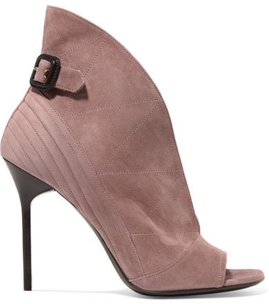 Burberry - Suede Ankle Boots - Antique rose