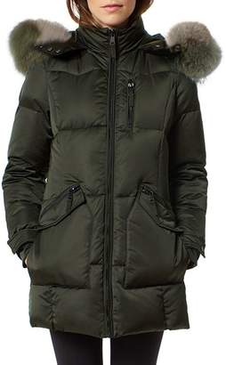One Madison Fur Trim Puffer Coat
