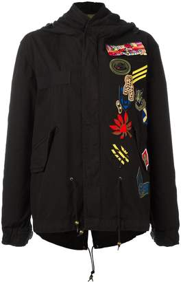 Mr & Mrs Italy embroidered parka