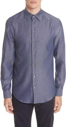 Emporio Armani Regular Fit Twill Sport Shirt