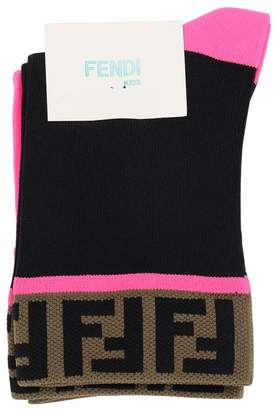 Fendi Set Of 2 Intarsia Techno Socks