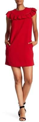 Trina Turk Ruffle Crepe Shift Dress