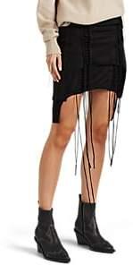 Helmut Lang Women's Aviator Layered Cotton Jersey Lace-Up Miniskirt - Black