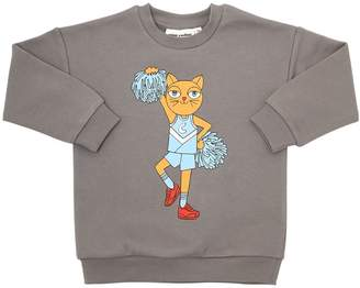 Mini Rodini Cheerleader Printed Cotton Sweatshirt