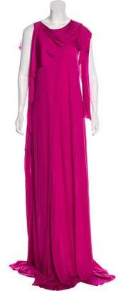 Bottega Veneta Satin Maxi Dress