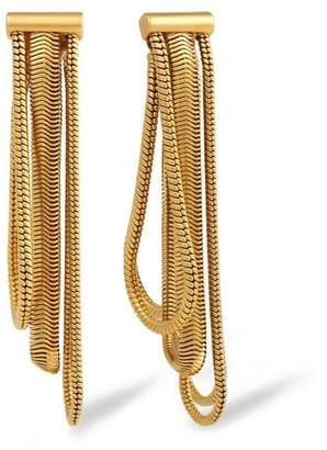 Rachel Zoe Jade Snake-Chain Drop Earrings