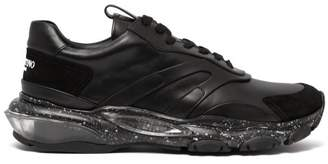 Valentino Bounce Raised Sole Low Top Trainers - Mens - Black