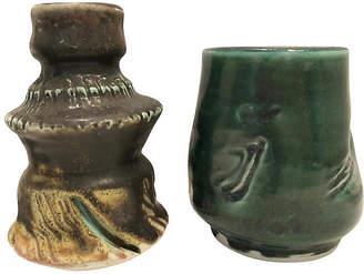 One Kings Lane Vintage Handmade Vases - Set of 2 - nihil novi