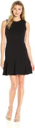 Lark & Ro Women's Sleeveless Fit and Flare Dress with Pieced Bodice