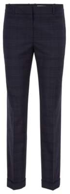 BOSS Hugo Relaxed-fit pants in checkered virgin wool 4 Patterned