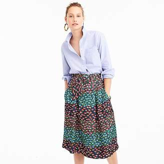 J.Crew Collection paper-bag waist skirt in Ratti® midnight floral