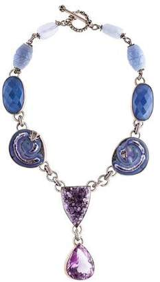 Stephen Dweck Amethyst & Chalcedony One of a Kind Lavalier Necklace