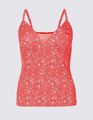 Marks and Spencer Printed Plunge Tankini Top
