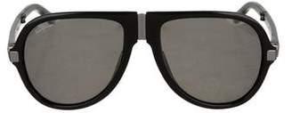 Salvatore Ferragamo Polarized Foldable Sunglasses