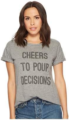 Original Retro Brand The Cheers To Pour Decisions Slub T-Shirt Women's T Shirt