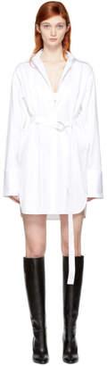 Helmut Lang White Oversized Shirt Dress