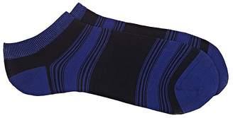 Barneys New York Men's Striped Cotton-Blend Ankle Socks $25 thestylecure.com