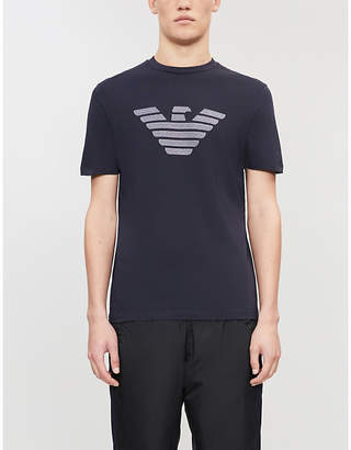 Emporio Armani Logo-embroidered cotton T-shirt