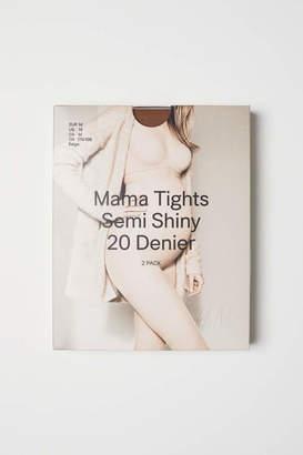 H&M MAMA 2-pack Tights - Light amber - Women