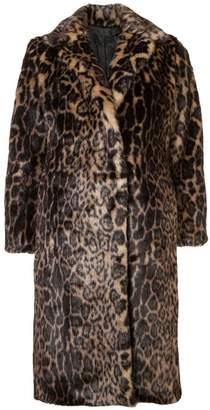 Nili Lotan leopard print faux fur coat