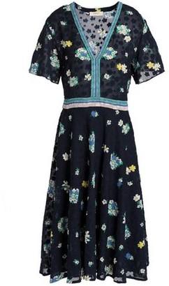 BA&SH Floral-Print Fil Coupé Dress