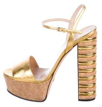 d663136eceec Pre-Owned at TheRealReal · Gucci Metallic Platform Sandals
