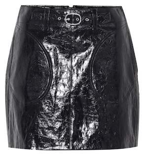 Rag & Bone Toni belted leather miniskirt