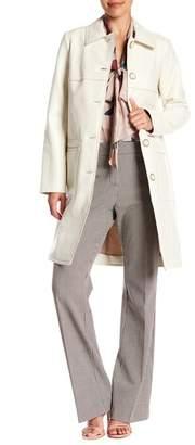 Trina Turk Jones Patent Wool Blend Coat