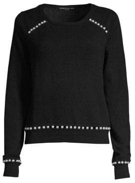 Generation Love Presley Faux-Pearl Cashmere Sweater