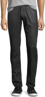 Versace Coated Straight-Leg Jeans