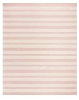 Safavieh Kids Pink Stripe Hand Tufted Wool Rug