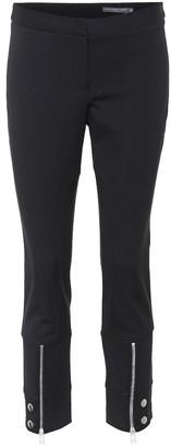 Alexander McQueen Cropped zip-cuff skinny trousers
