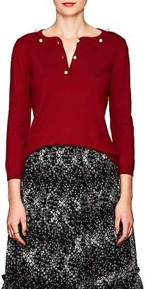 Barneys New York Women's Pearl-Embellished Cashmere Sweater - Wine
